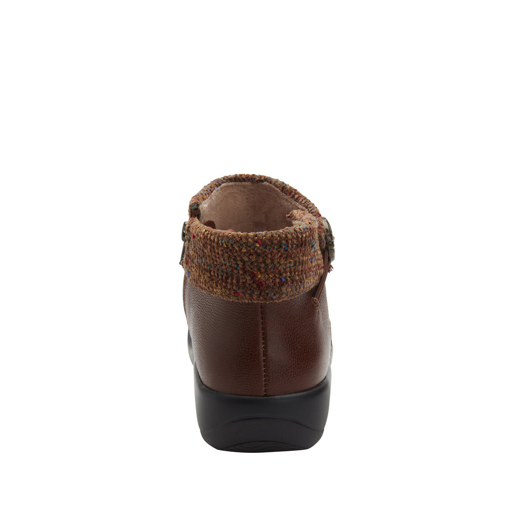 Sitka Brown Bootie on Career Casual with contrast knited collar and warm linings for cooler weather. SIT-7858_S3