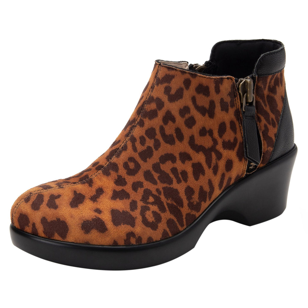 Sloan fashionable bootie on career fashion wedge in Leopard with Dream Fit™ upper - SLO-402_S1