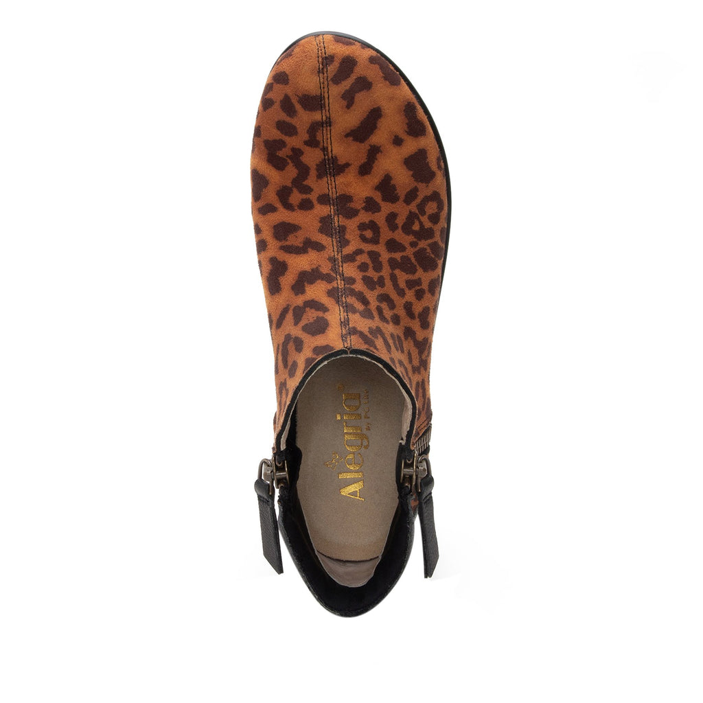 Sloan fashionable bootie on career fashion wedge in Leopard with Dream Fit™ upper - SLO-402_S4
