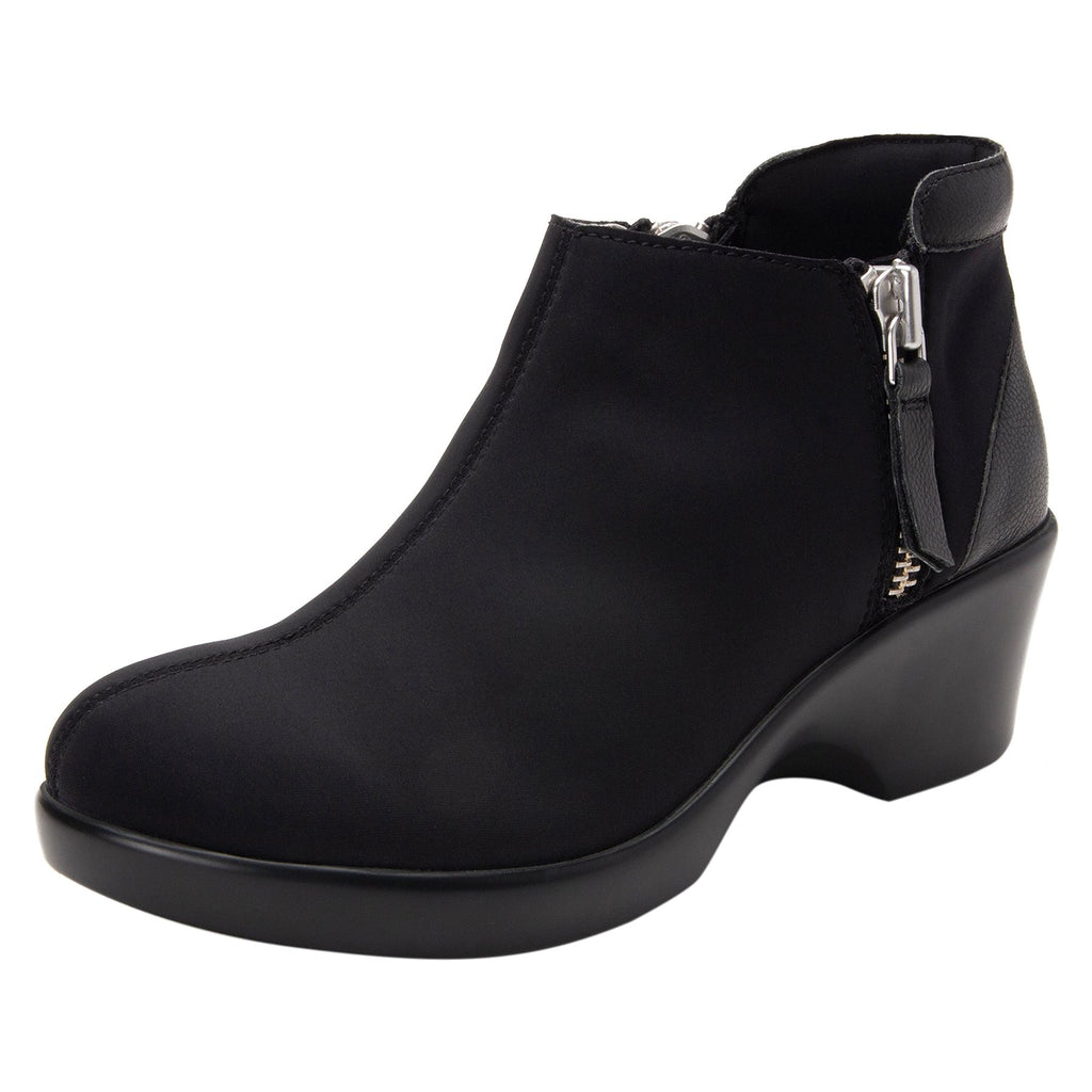 Sloan fashionable bootie on career fashion wedge in Black with Dream Fit™ upper - SLO-601_S1 (2250688233526)