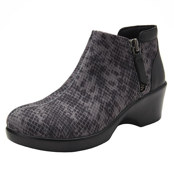 Sloan fashionable bootie on career fashion wedge in Snake with Dream Fit™ upper - SLO-7829_S1