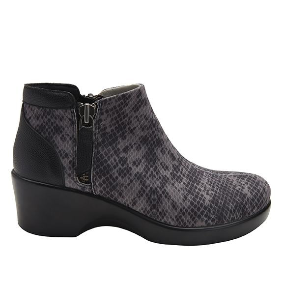Sloan fashionable bootie on career fashion wedge in Snake with Dream Fit™ upper - SLO-7829_S2