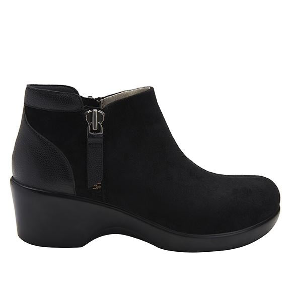 Sloan fashionable bootie on career fashion wedge in Black Suede with Dream Fit™ upper - SLO-7922_S2
