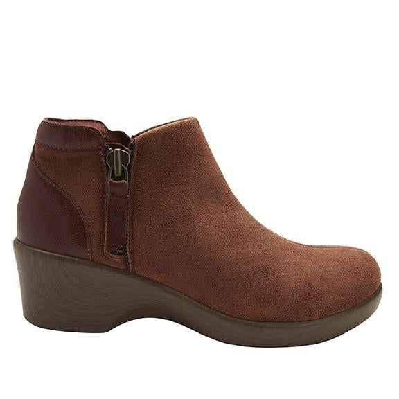 Sloan fashionable bootie on career fashion wedge in Brown Suede with Dream Fit™ upper - SLO-7923_S2