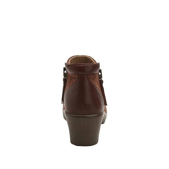 Sloan fashionable bootie on career fashion wedge in Brown Suede with Dream Fit™ upper - SLO-7923_S3
