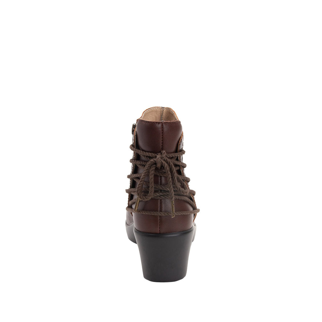 Stevee Cute Stuff Cocoa features a stylish zig-zag adjustable Lace-up detail with a side zip closure and contrast leather at the ankle and boot shaft - STE-796_S3 (2271800918070)