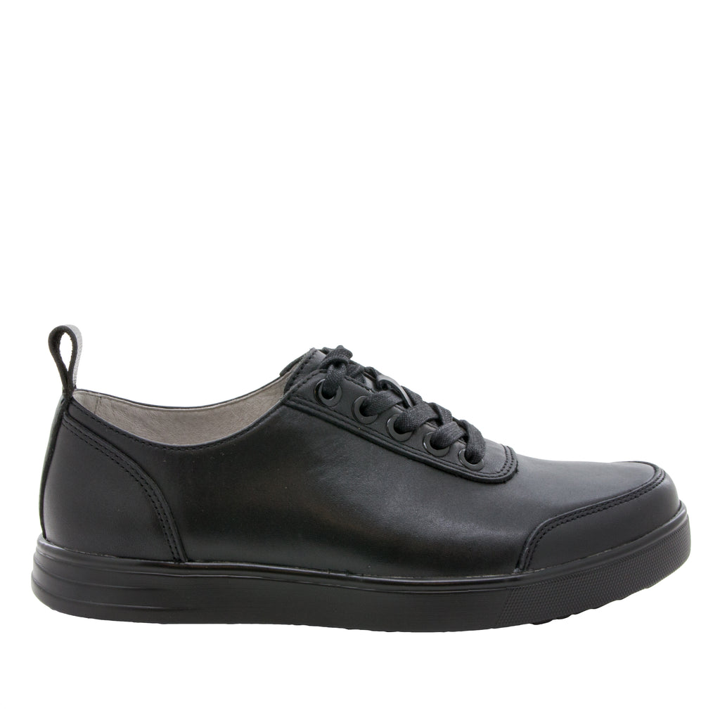 Alegria Men's Stretcher Black Tumbled Shoe