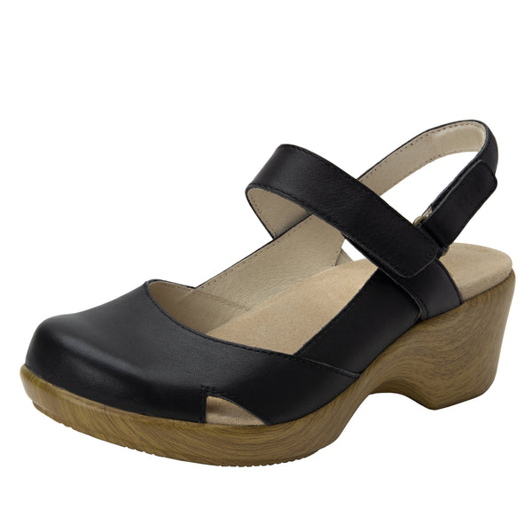Tarah Black slingback maryjane on comfort wedge outsole - ALG-TAR-601_S1