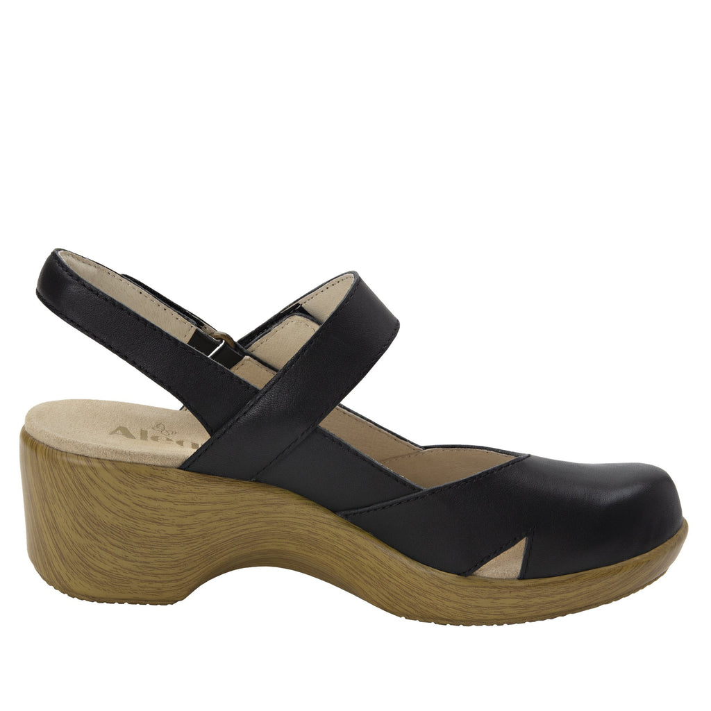 Tarah black slingback maryjane on comfort wedge outsole - ALG-TAR-601_S2