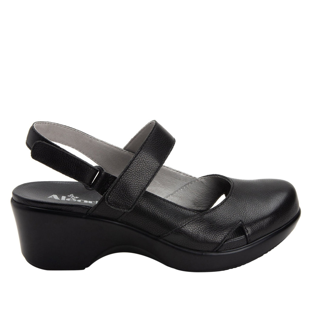 Tarah Black Casual slingback maryjane on comfort wedge outsole - ALG-TAR-611_S2