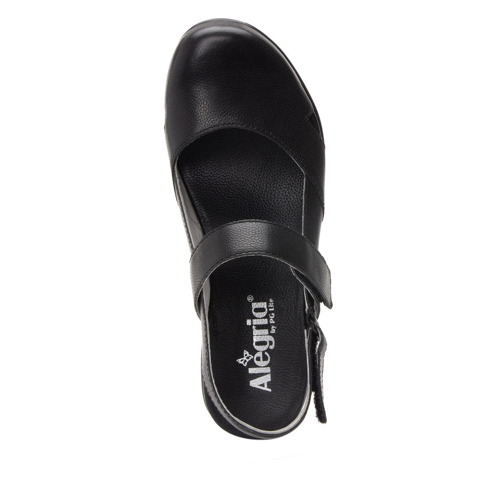Tarah Black Casual slingback maryjane on comfort wedge outsole - ALG-TAR-611_S4