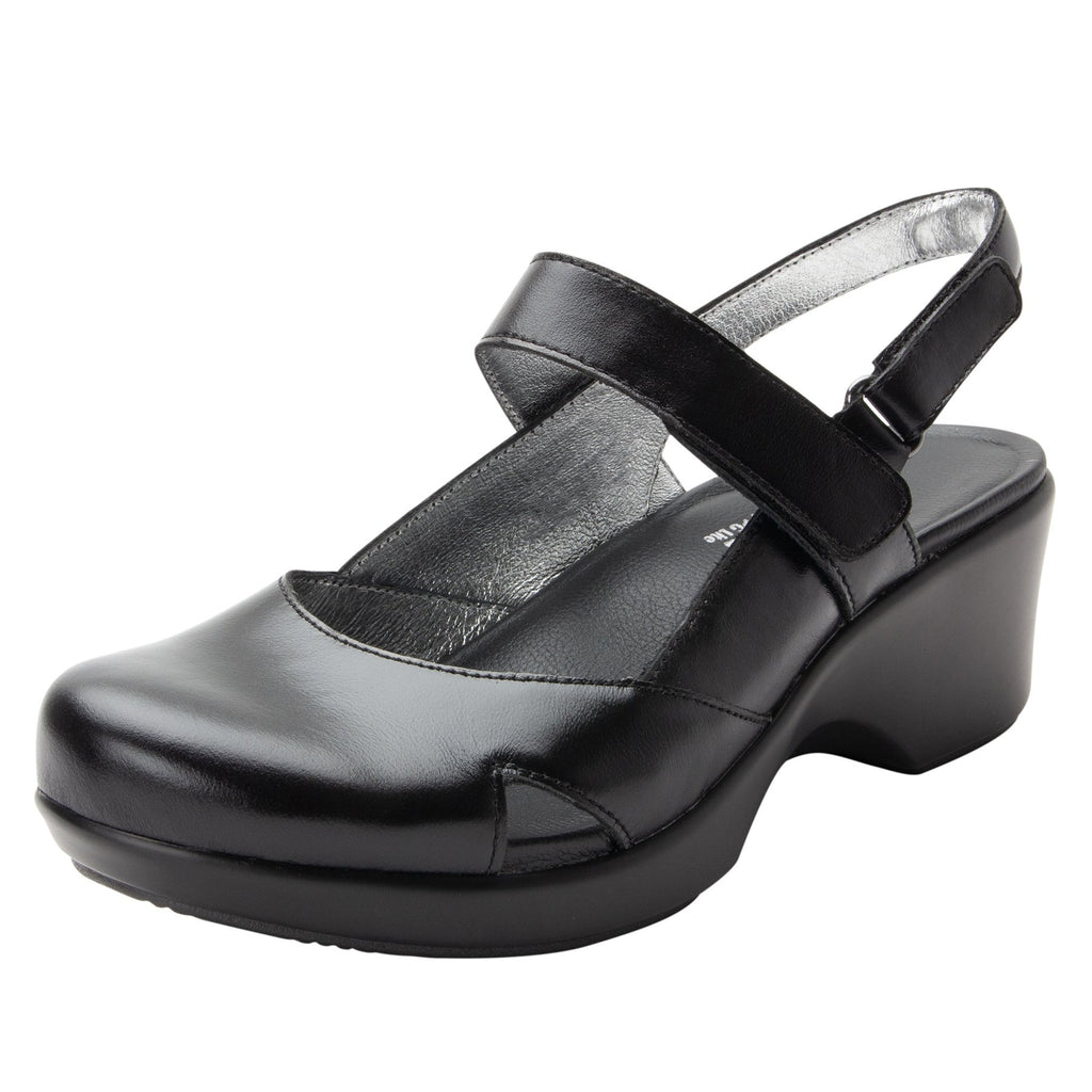Tarah Jet Luster slingback maryjane on comfort wedge outsole - ALG-TAR-640_S1 (2088355102774)