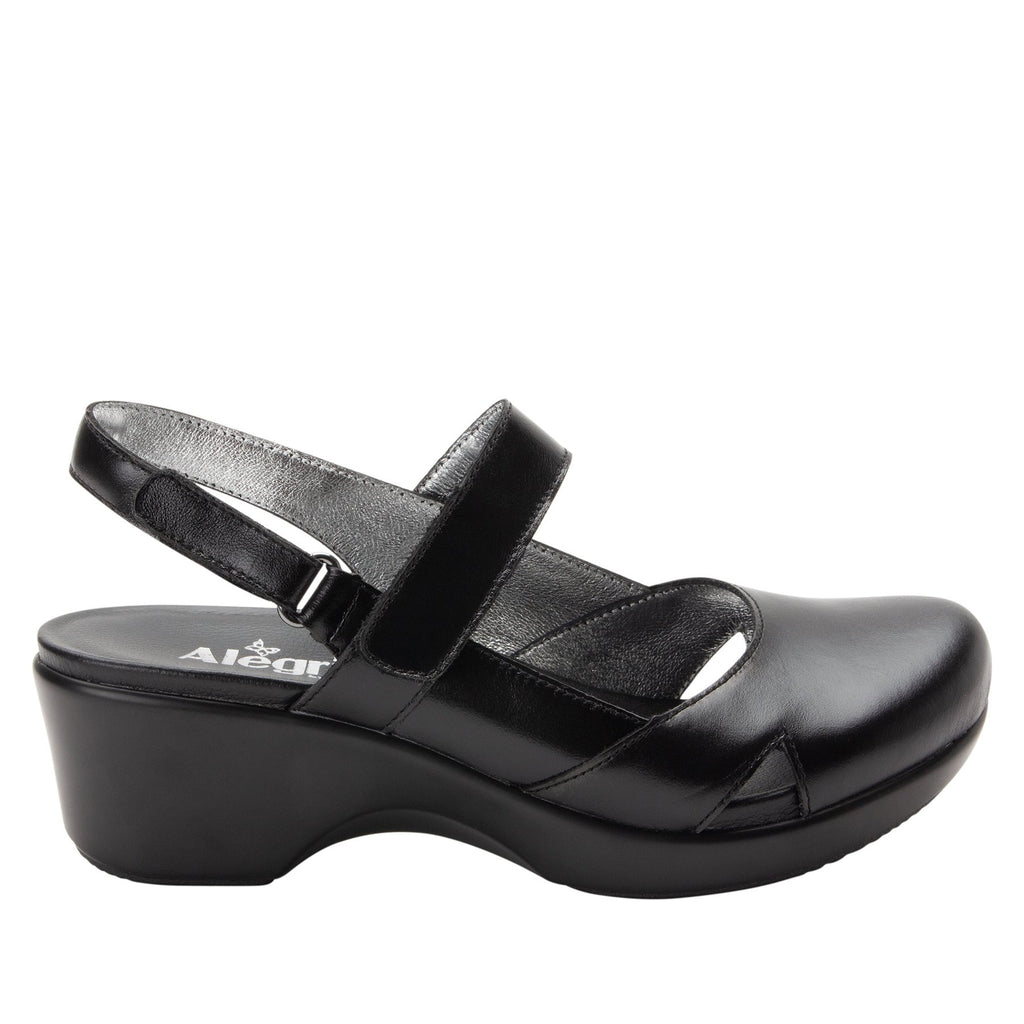 Tarah Jet Luster slingback maryjane on comfort wedge outsole - ALG-TAR-640_S2 (2088355102774)
