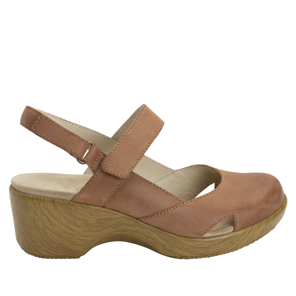 Tarah Cognac slingback maryjane on comfort wedge outsole - ALG-TAR-647_S2