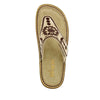 Vanessa Mandala Natural thong style sandal with adjustable strap on the mini outsole - VAN-178_S4