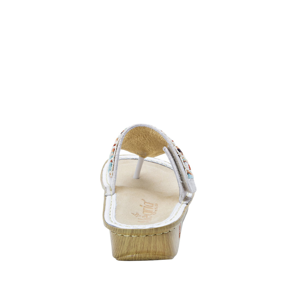 Vanessa Soiree Gold thong style sandal with adjustable strap on the mini outsole - VAN-261_S3