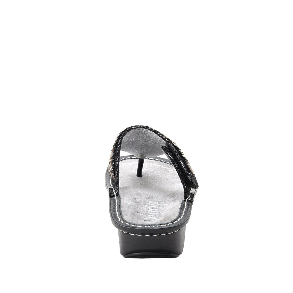 Vanessa Soiree Silver thong style sandal with adjustable strap on the mini outsole - VAN-262_S3