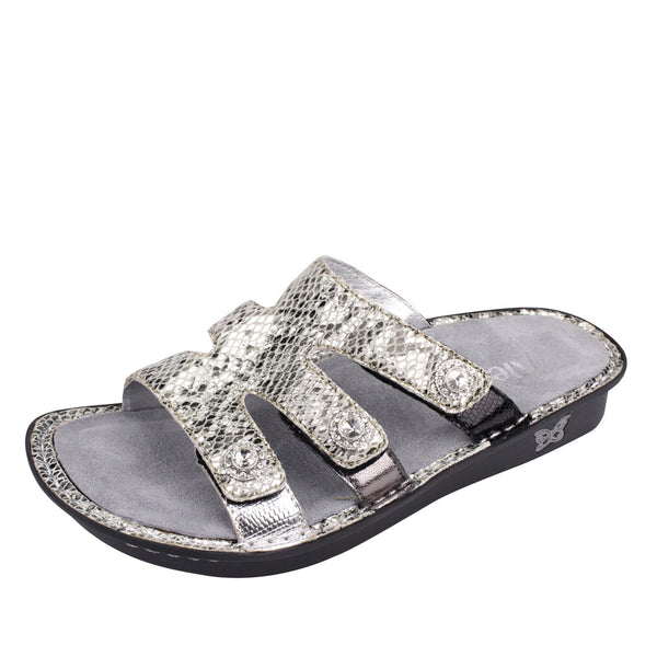 Test Pewter Gleam Sandal Test - Alegria Shoes