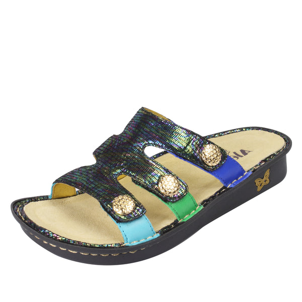 Venice Blue Gleam Sandal