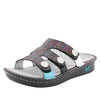 Venice Chirpy Multi three strap adjustable slide sandal on mini bottom - VEN-889_S1