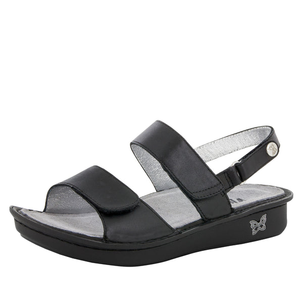 Verona Uptown Black Sandal - Alegria Shoes - 1