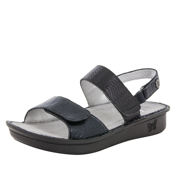 Verona Braided Black Sandal