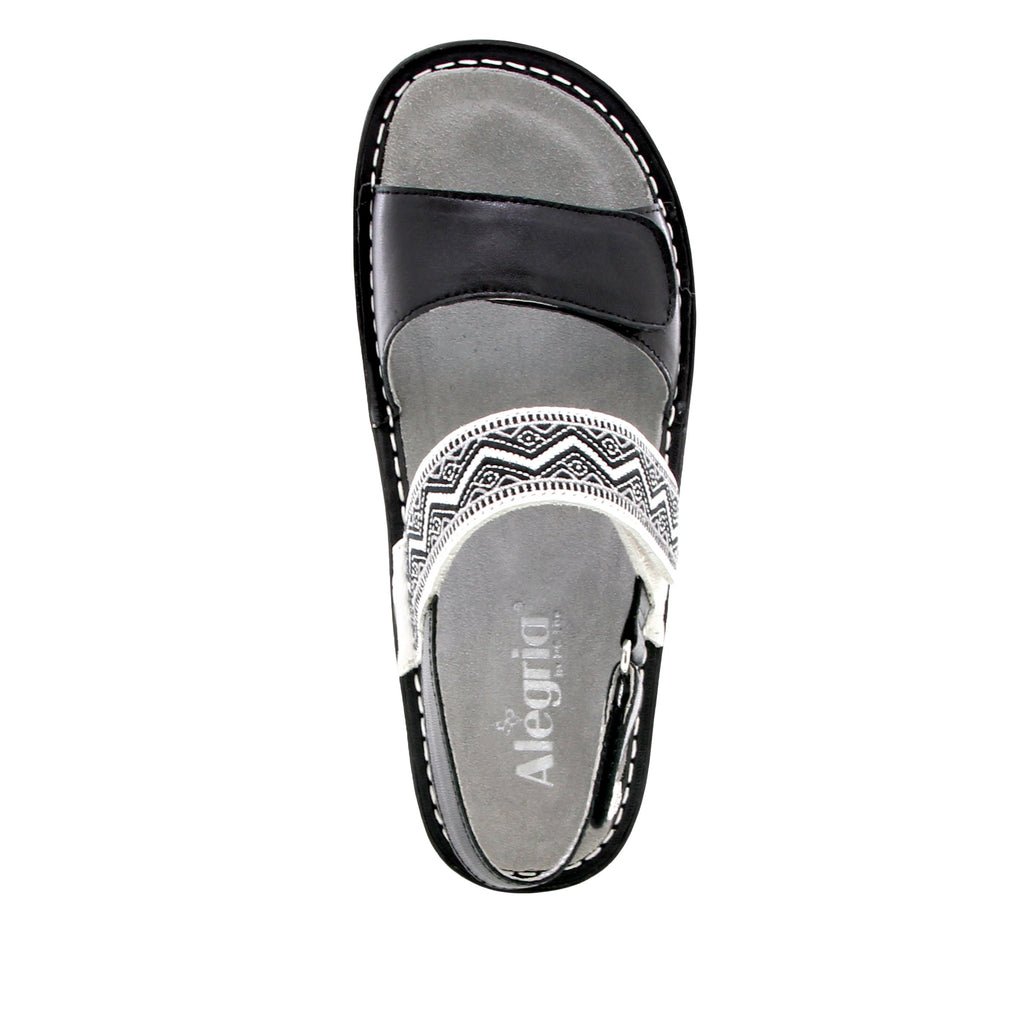 Verona Black slingback sandal with three hook and loop adjustable straps on mini outsole - VER-621_S4 (1955304636470)