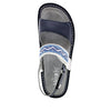 Verona Navy slingback sandal with three hook and loop adjustable straps on mini outsole - VER-622_S4