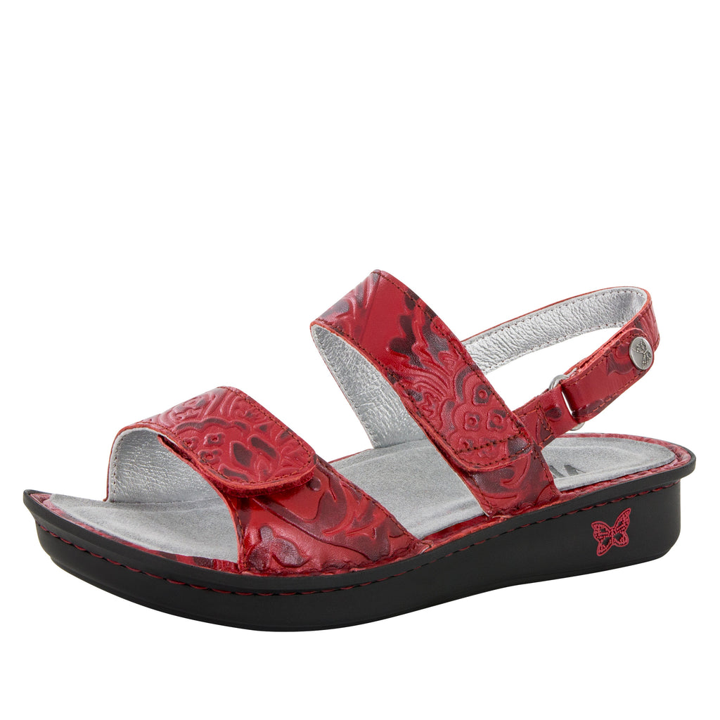 Verona Yeehaw Red Sandal - Alegria Shoes - 1