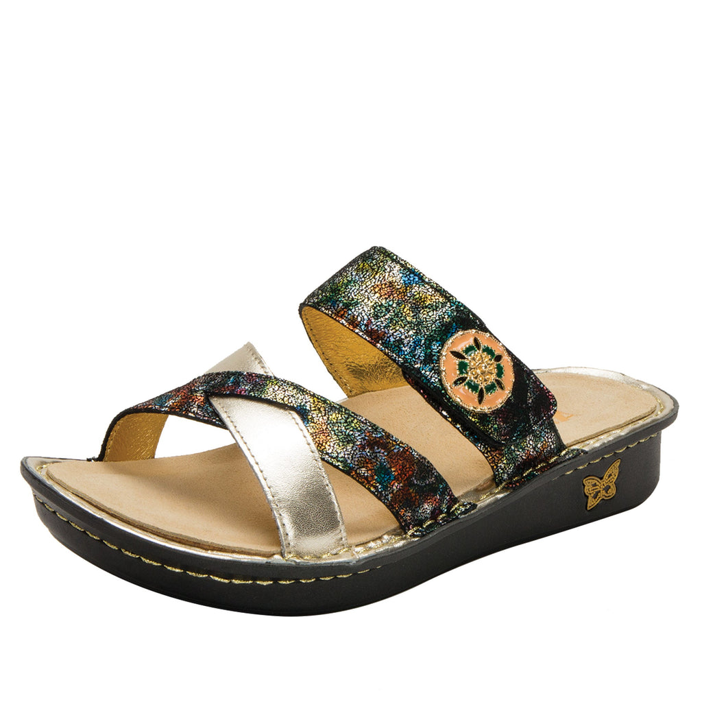 Victoriah Verdana with crisscross detail and adjustable strap slide on sandal on mini outsole - VIC-479_S1 (1940737065014)