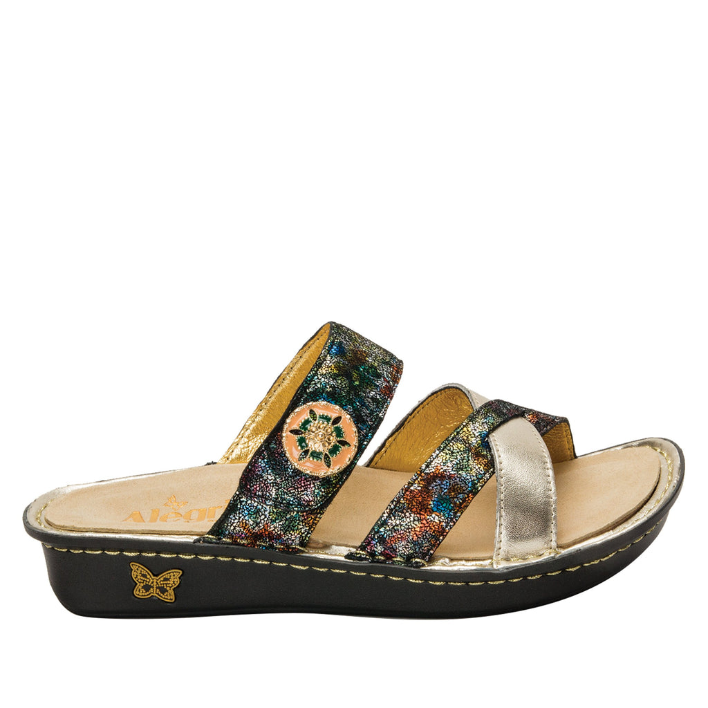 Victoriah Verdana with crisscross detail and adjustable strap slide on sandal on mini outsole - VIC-479_S2 (1940737065014)