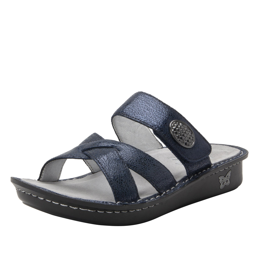 Victoriah 5th Dimension with crisscross detail and adjustable strap slide on sandal on mini outsole - VIC-7719_S1