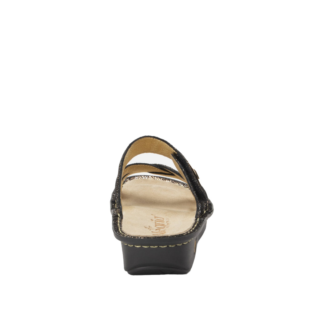 Victoriah Exotic with crisscross detail and adjustable strap slide on sandal on mini outsole - VIC-7756_S3
