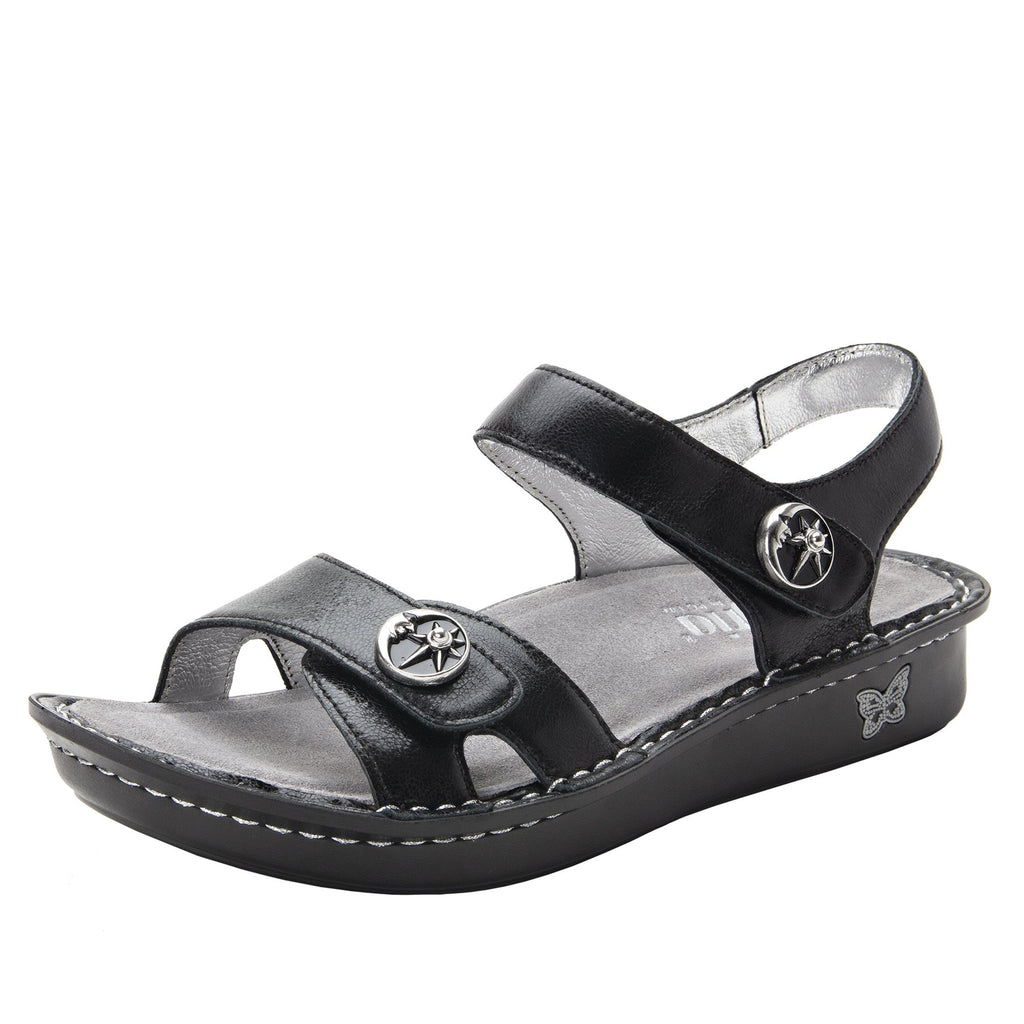 Vienna Moonshadow Sandal with two adjustable hook and loop strap closures and ankle strap - VIE-131_S1