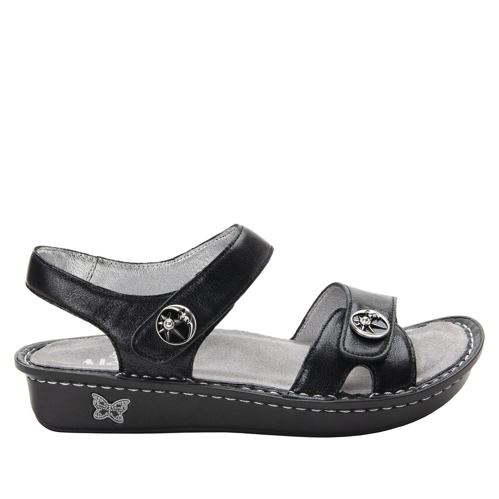 Vienna Moonshadow Sandal with two adjustable hook and loop strap closures and ankle strap - VIE-131_S2