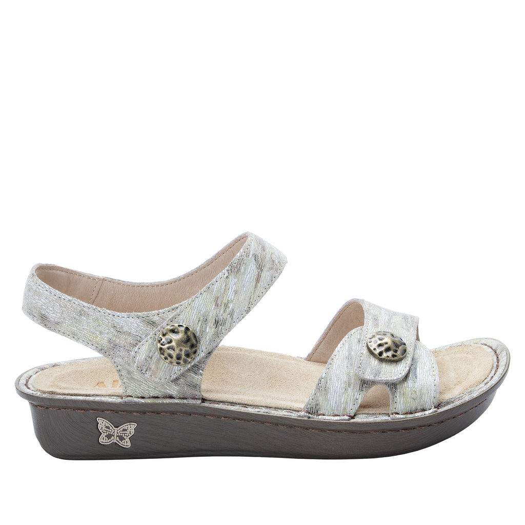 Vienna Sand Sandal with two adjustable hook and loop strap closures and ankle strap - VIE-463_S2