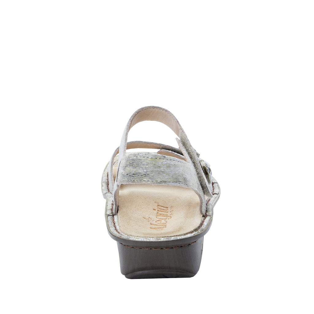 Vienna Sand Sandal with two adjustable hook and loop strap closures and ankle strap - VIE-463_S3
