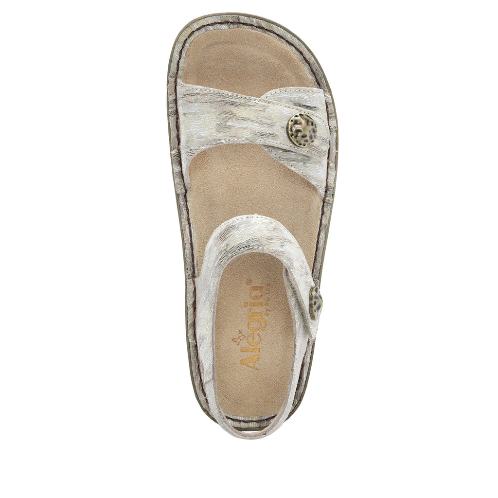Vienna Sand Sandal with two adjustable hook and loop strap closures and ankle strap - VIE-463_S4