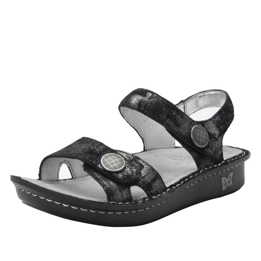 Vienna Smolder Sandal with two adjustable hook and loop strap closures and ankle strap - VIE-7761_S1