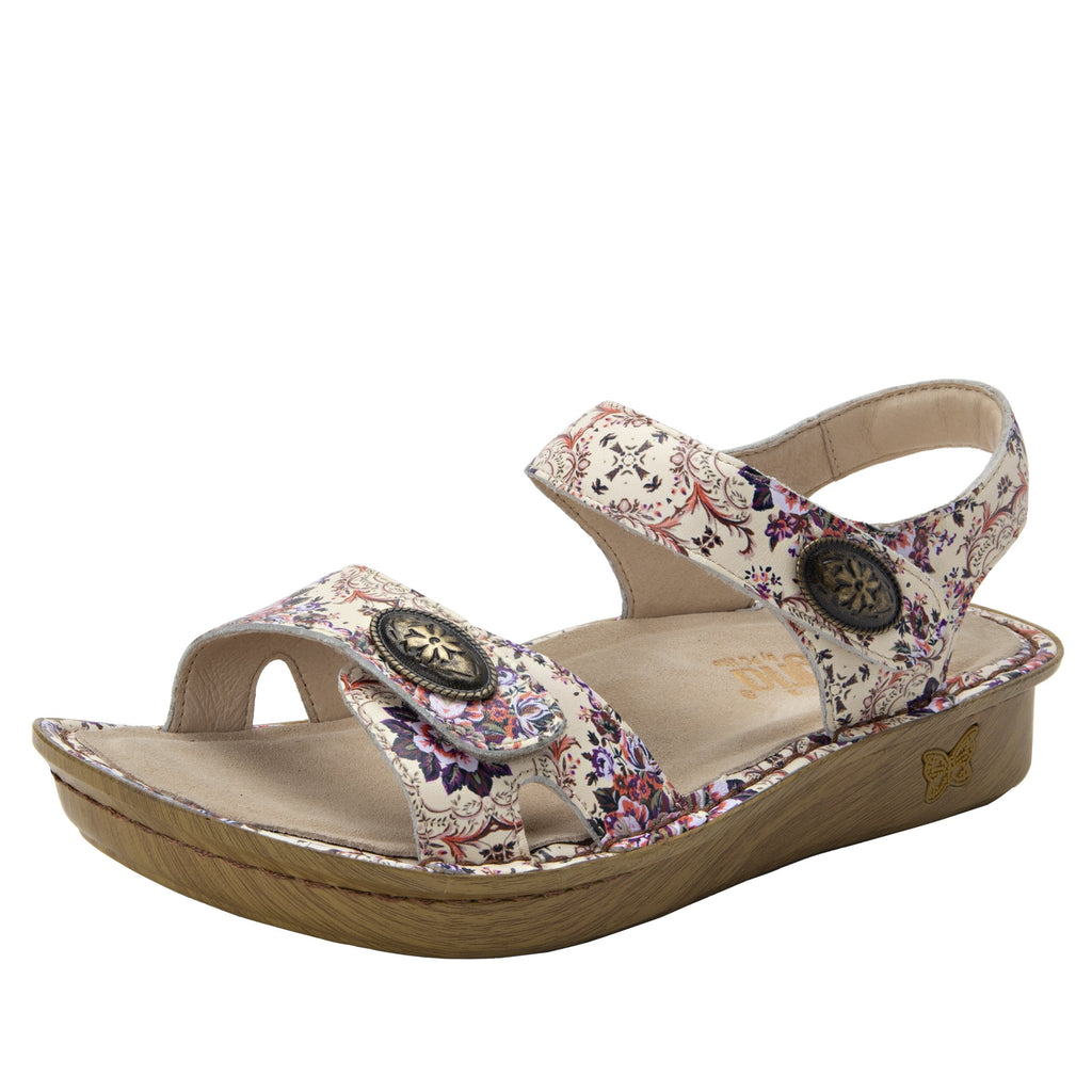 Vienna What A Frill Sandal with two adjustable hook and loop strap closures and ankle strap - VIE-880_S1