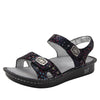 Vienna Lush Sandal with two adjustable hook and loop strap closures and ankle strap - VIE-940_S1