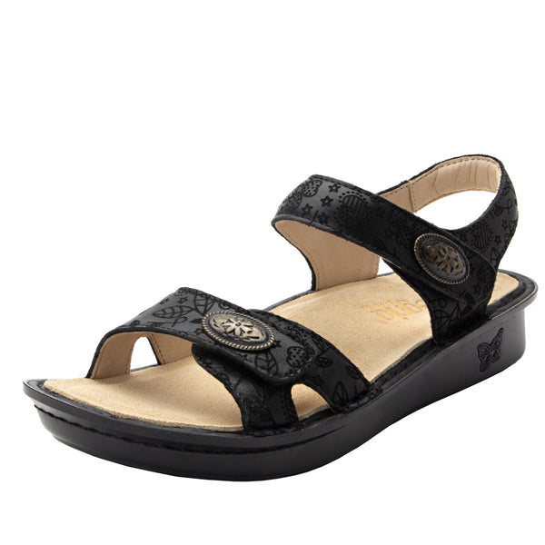 Vienna Go Lightly Sandal with two adjustable hook and loop strap closures and ankle strap - VIE-951_S1
