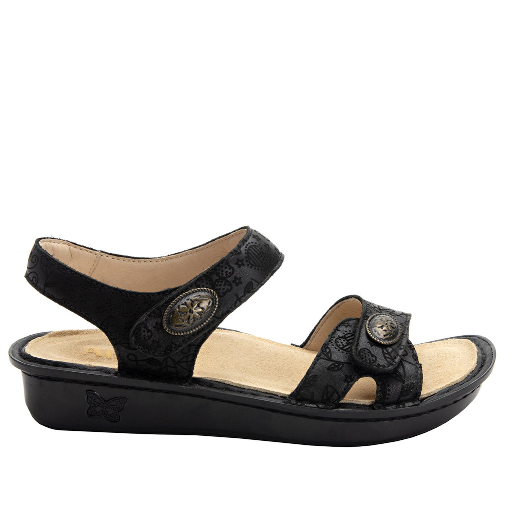 Vienna Go Lightly Sandal with two adjustable hook and loop strap closures and ankle strap - VIE-951_S2