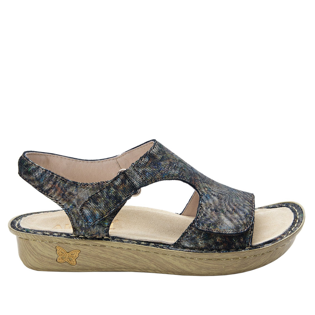 Viki metallic printed Copacetic Copper slingback sandal with dual adjustable straps - VIK-126_S2