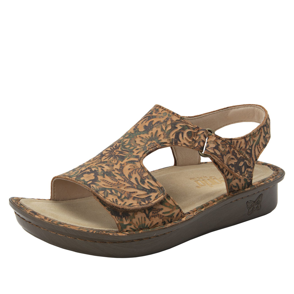 Viki printed Country Road slingback sandal with dual adjustable straps - VIK-166_S1 (1955304964150)