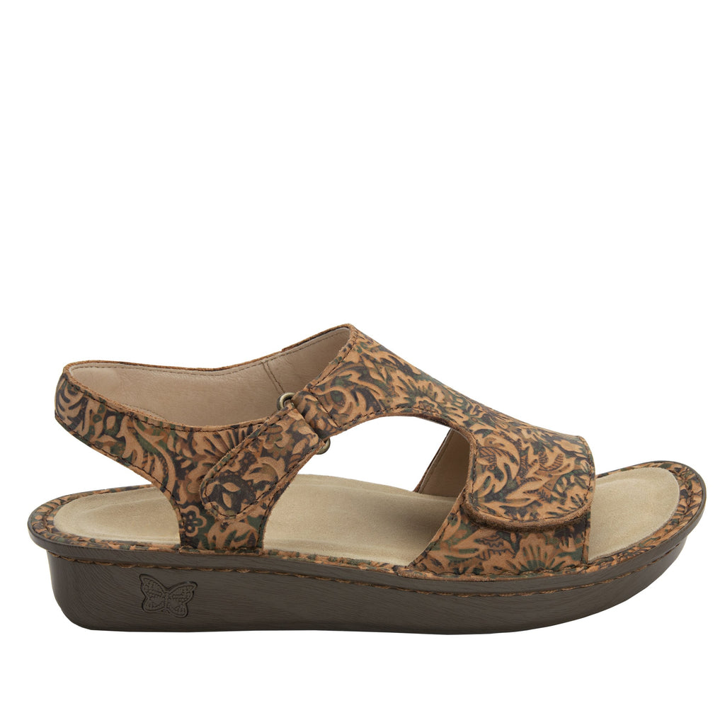 Viki printed Country Road slingback sandal with dual adjustable straps - VIK-166_S2 (1955304964150)
