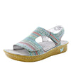 Viki printed Seascape slingback sandal with dual adjustable straps - VIK-168_S1