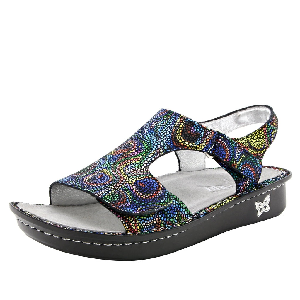 Viki printed Rainbow Cyclone slingback sandal with dual adjustable straps - VIK-493_S1