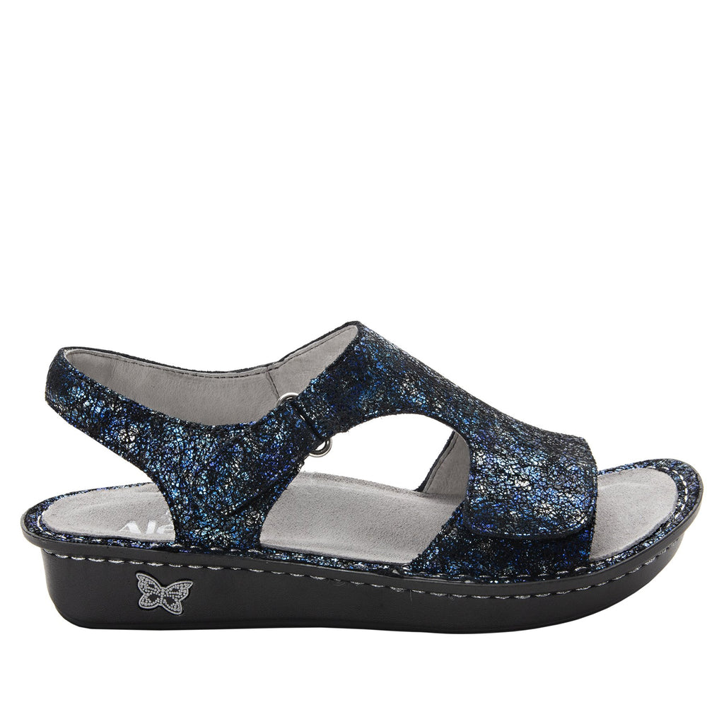 Viki metallic printed Magnetic slingback sandal with dual adjustable straps - VIK-794_S2