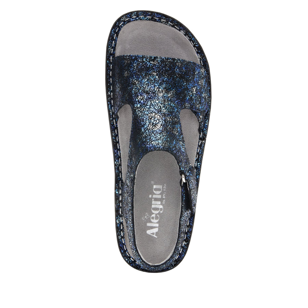 Viki metallic printed Magnetic slingback sandal with dual adjustable straps - VIK-794_S4